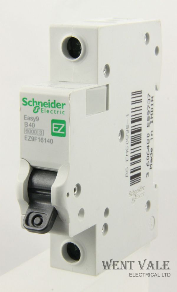 Schneider Easy 9 - EZ9F16140 - 40a Type B Single Pole MCB Un-used